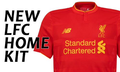 LFC Home Kit Range 2016-17