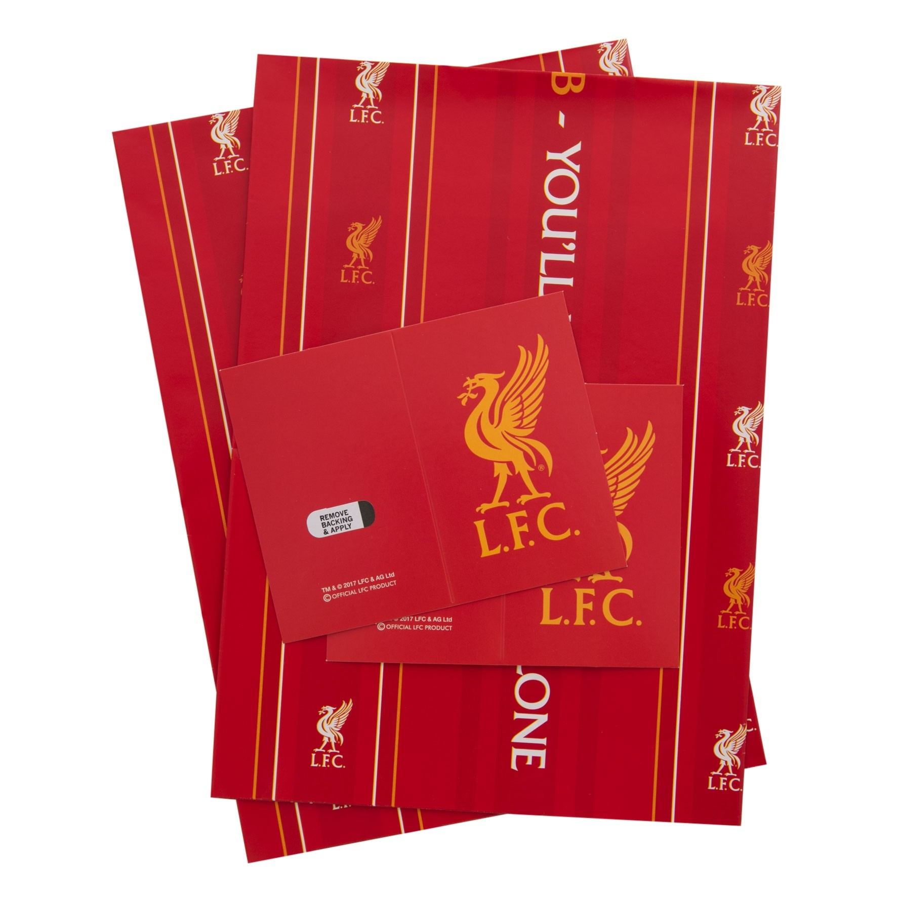 LFC 2 Sheets 2 Tags Gift Wrap Set