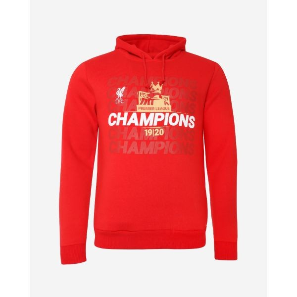 LFC Adults EPL Champions 19-20 Red Pocket Hoody