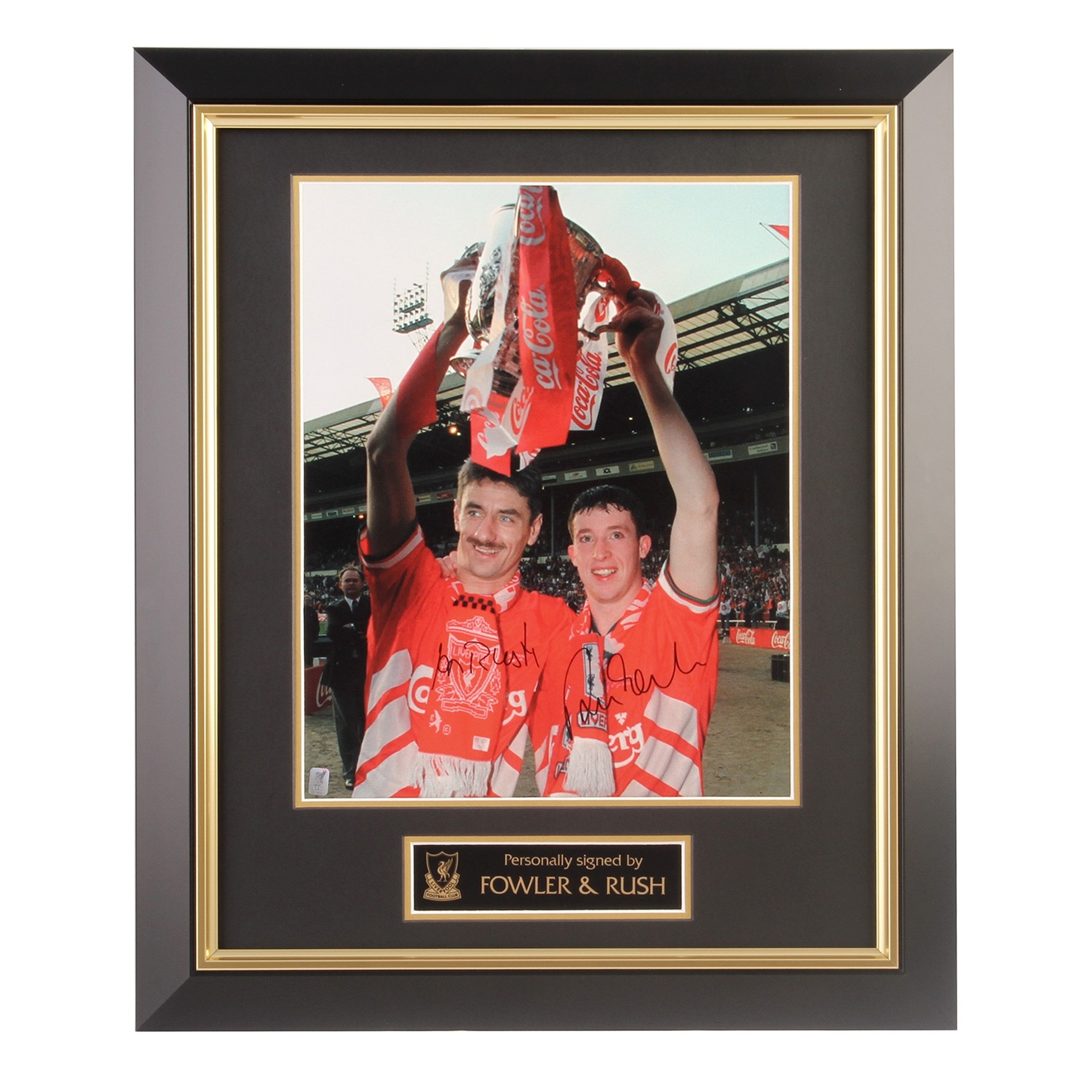 LFC Fowler and Rush Framed Image
