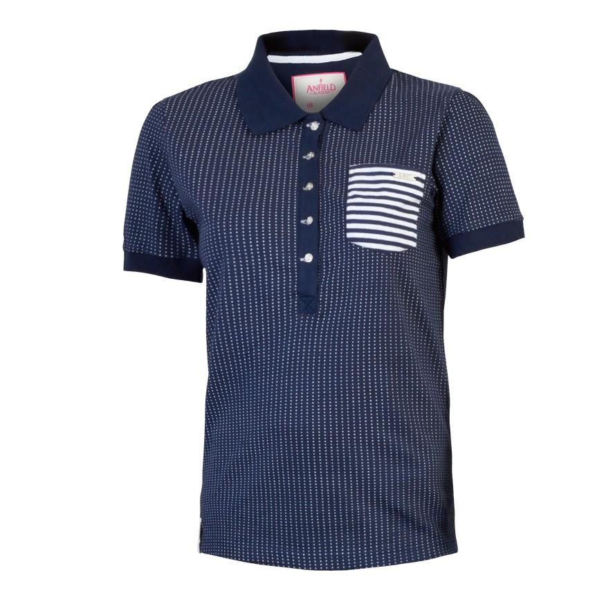 Lfc Ladies Navy Lilly Polo Shirt