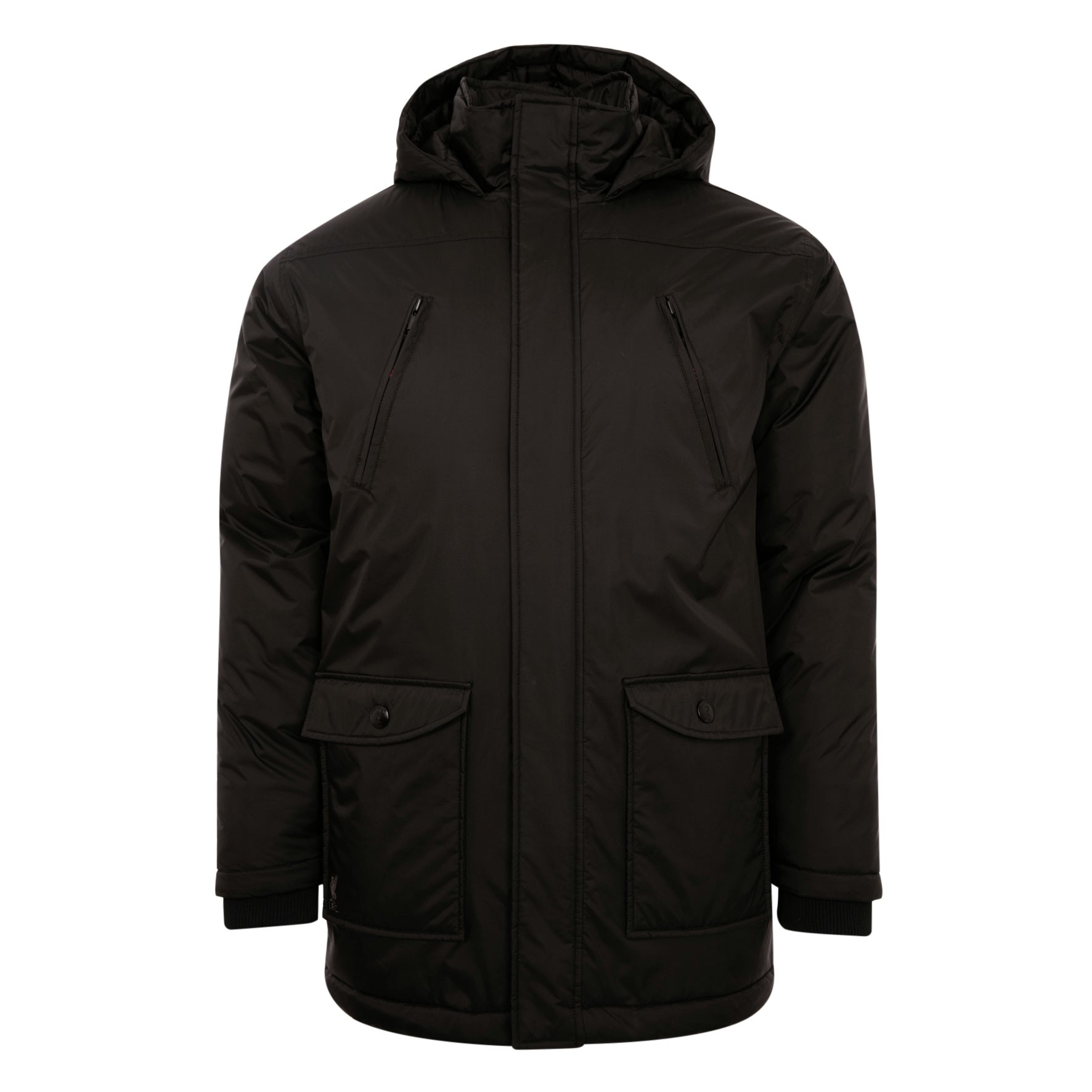 LFC Mens Black Long Padded Jacket