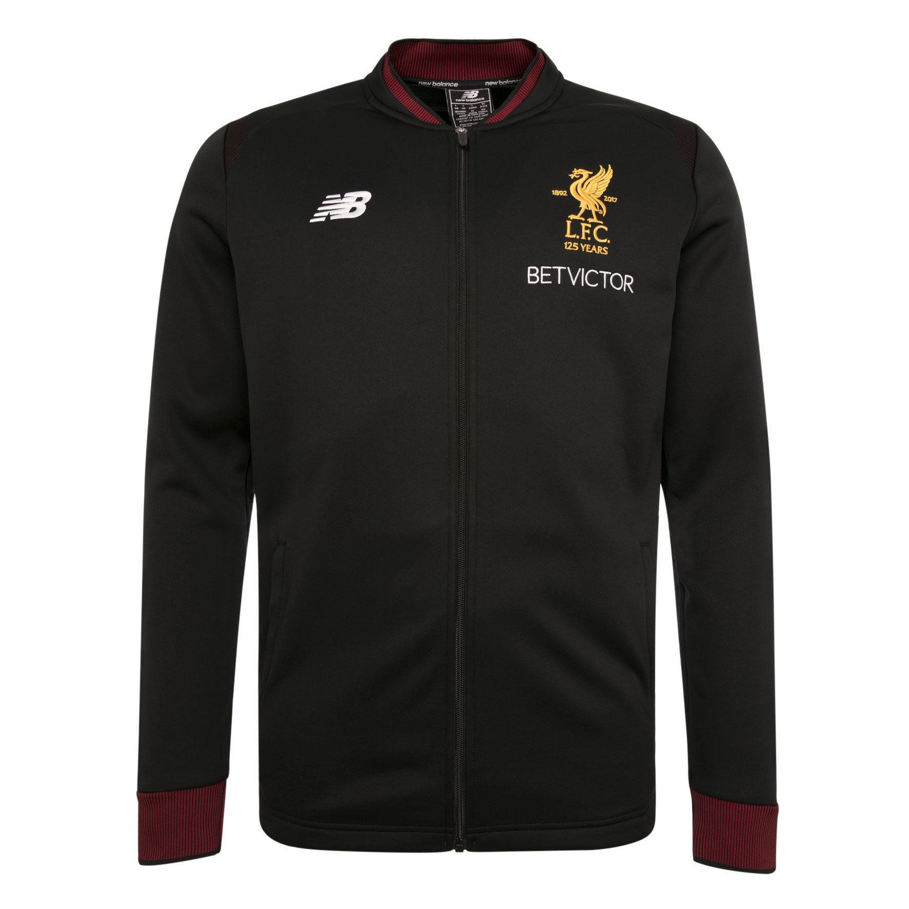 LFC Mens Black Training Away Walk Out Jacket 17/18