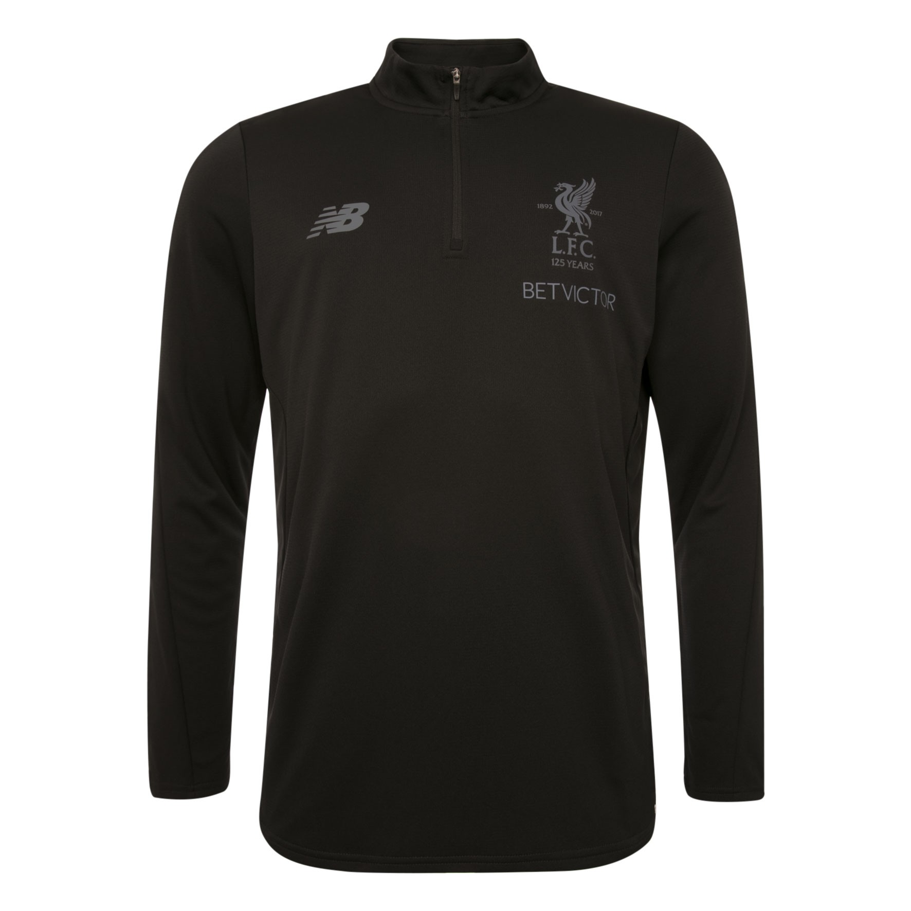 LFC Mens Black Training Zip Sweat 17/18