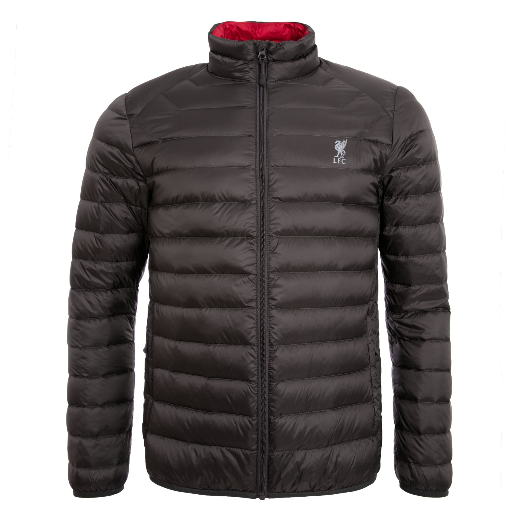 LFC Mens Charcoal Packaway Puffa Jacket