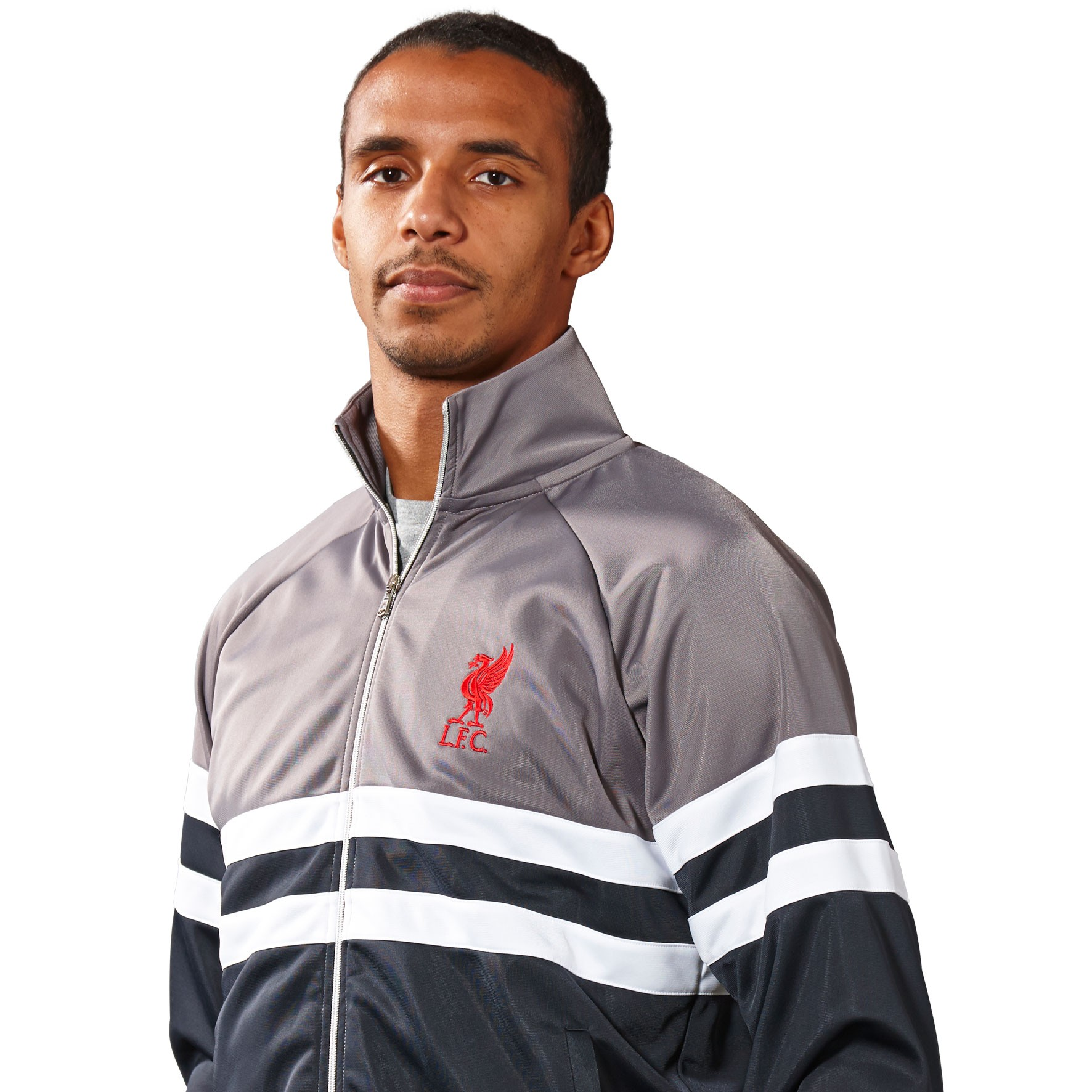 LFC Mens Grey Halfpipe Jacket