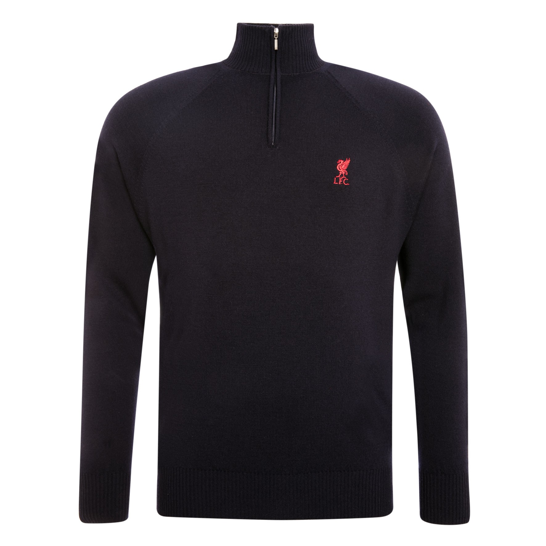 LFC Mens Navy Signature Merino 1/4 Zip Jumper