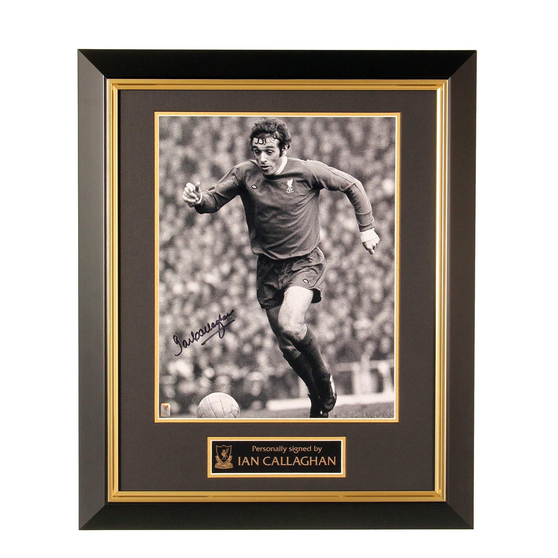 LFC Signed Ian Callaghan Framed Image